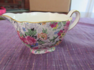 Vintage English Nelson Ware Chintz Footed Creamer