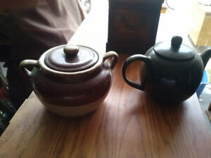 bean crock and teapot for sale