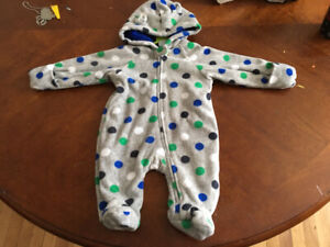 0-3 month snowsuits $7 each
