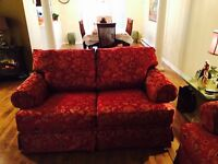DAMASK SOFA & LOVE SEAT FOR SALE