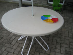 Sturdy White Patio Table