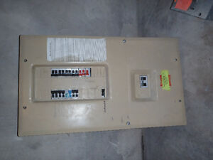 electrical panel with breakers