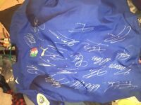 Italy 2006 World Cup signed/autographed soccer jersey
