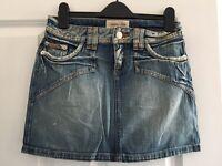 Denim mini skirt size 12