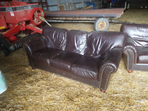 leather couch & love seat $300 obo