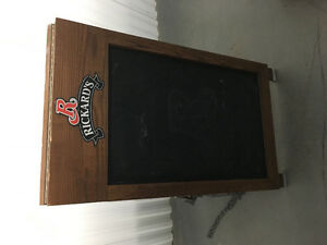 Vtg Double sided A line Rickards Red side walk chalkboard sign