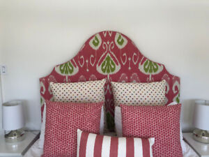 Beautiful Queen-Sized Upholstered Headboard - Perfect Condition!