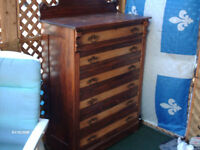 COMMODE VICTORIEN 6 TIRROIRS ANNÉE 1940-50 APPROX,
