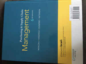 Purchasing & supply chain management text book