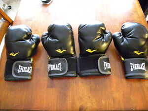 2 Pairs of Black Everest Boxing Gloves