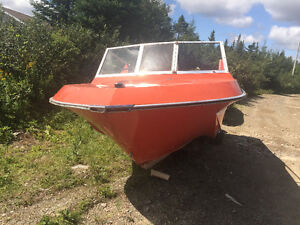 15ft fiber glass with 50hp outboard