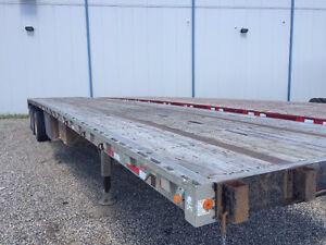 48' Aluminum Tri-axle Flat Deck Trailer