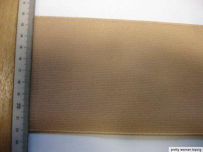 Gummiband Bündchen Gürtel Meterware beige 10cm breit MC20