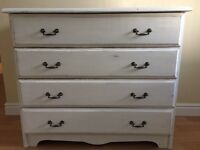shabby chic set of drawers