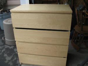 4 drawer high boy  dresser  - well used-SPPU
