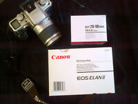 Canon EOS Elan II with EF 28-90 mm f/4-5.6 Zoom Lens and Case