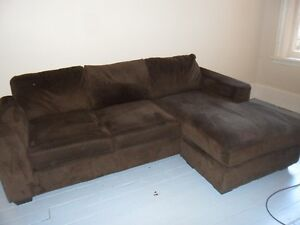 CORDEROY SOFA WITH CHAISE
