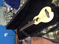 Washburn Rover Travel Guitar (Perfect Condition) (with case)
