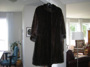 Dark Mink Full Length Coat-Like New