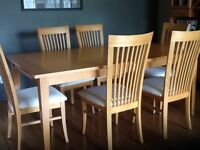 Dining table, 6 chairs & buffet/hutch