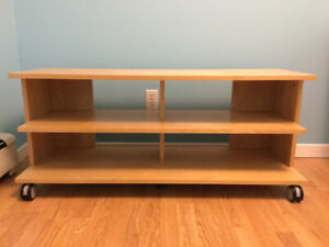 IKEA BENNO TV Unit with Casters (Birth Veneer)