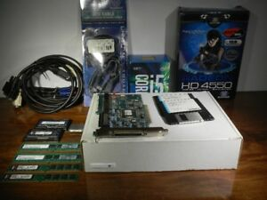 LOT DE PIECES ORDINATEUR - RAM / CPU / CARTES / CABLES...