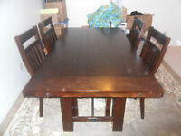 a hardly used dinning room set