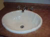 2 bathroom sinks with pfister faucets - like new!
