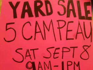 Yard sale in support of the Leukemia and lymphoma society
