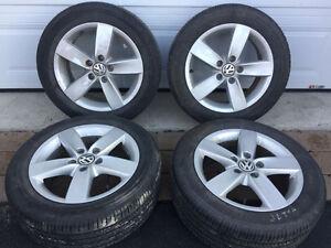 205/55/16 VW Jetta OEM Mags With Bridgestone Turanza Summer Tire