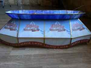 Stained glass Alpine pool table light