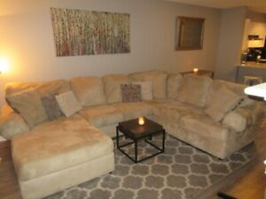 Clean, Spacious, Beautifully furnished 2 bed +2 bath