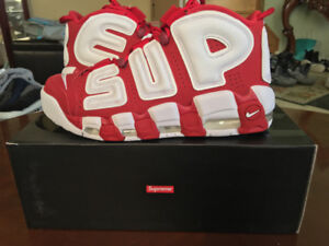 Nike Air More Uptempo Supreme Red Sz 8.5
