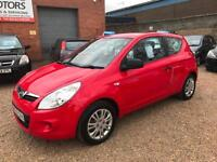 2010 Hyundai i20 1.2 Classic, Red 3dr, Hatchback, **ANY PX WELCOME**