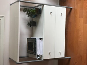 2-drawer cabinet display.