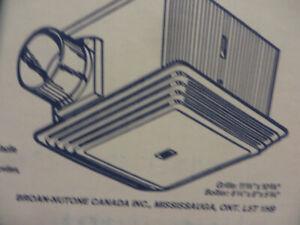NEW white  Ventilation  bathroom fan, $25