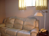 Clean Furnished Basement Suite Available Oct.1