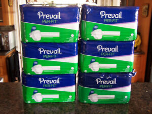 Prevail Per-Fit Adult Briefs 6 packs of 20 for men & women