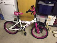 Girls bmx style bike - pink and white - £30