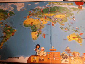 Leap Frog Tag Pen talking Interactive  world Map $5