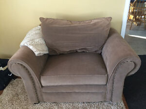 Matching Couch and Large Chair Set