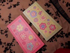 2 canvas pictures/paintings girls room