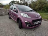 PURPLE Peugeot 107 2 lady owners very low miles perfect first car sim Aygo & C1