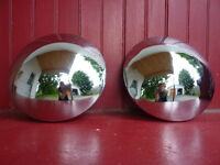 chrome hubcaps from late 60s Beetle