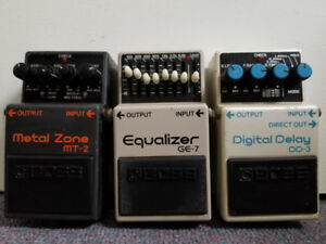 Guitar Pedals Boss Metal Zone (MT2), Equalizer (GE7)
