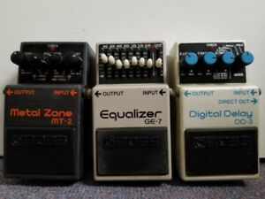 Guitar Pedals Boss Metal Zone (MT2), Equalizer (GE7) Delay (DD3)