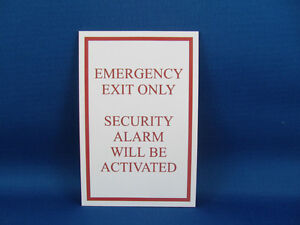 Emergency Exit Signs - Clearance