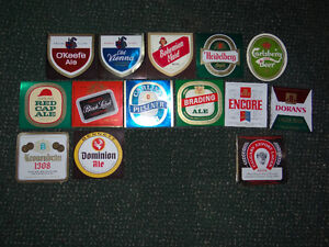 Vintage 14 Carling Labatts unused Beer Labels 1970's