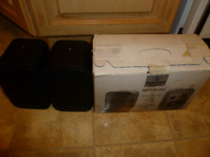 Pair Of AudioSphere Research Black Micro-Monitor Speakers