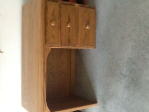 Solid Oak 3 Drawer Desk
